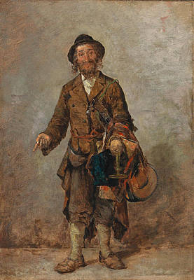 Painting - Jewish Peddlar From Eastern Europe by Hypolit Lipinski