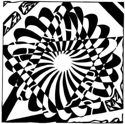 Trippy Maze Art Drawing - Jewish Pride Maze  by Yonatan Frimer Maze Artist