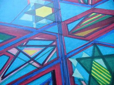 Kaballah Drawing - Jewish Stars by Modern Metro Patterns and Textiles