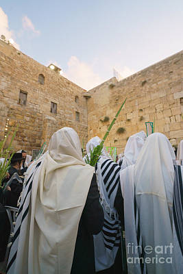 Photograph - Jewish Sunrise Prayers At The Western Wall, Israel 9 by Jeffrey Worthington
