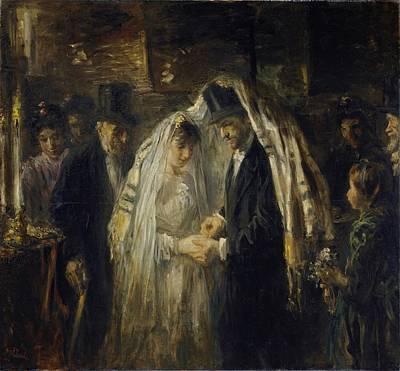 Painting - Jewish Wedding Jozef Israels  1903 by R Muirhead Art