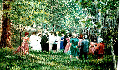 Painting - Jewish Wedding by Walter Casaravilla