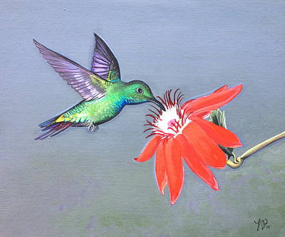 Hummingbird Painting - Jewels On Wings by Laura Parrish