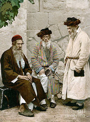 Photograph - Jews In Jerusalem, C1900 by Granger