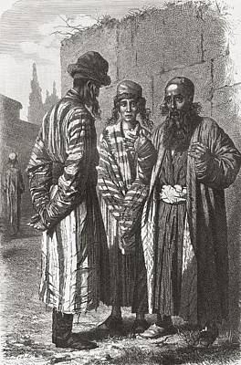 Orthodox Drawing - Jews Of Tashkent, Capital Of by Vintage Design Pics