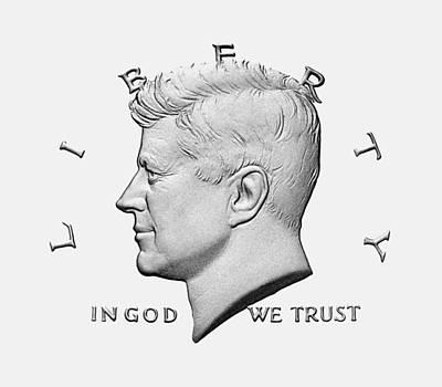 Us President Digital Art - Jfk - In God We Trust by War Is Hell Store