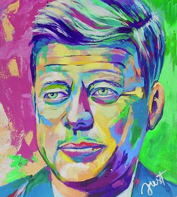 Painting - JFK by Janice Westfall