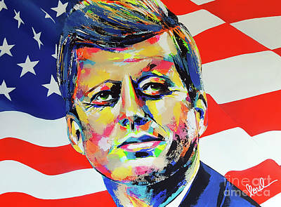 Painting - JFK by Marie-Armelle Borel