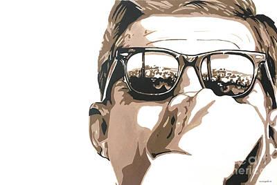 Painting - JFK by Nancy Mergybrower