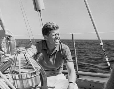 Yacht Photograph - Jfk Sailing On Vacation by War Is Hell Store