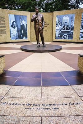 John F. Kennedy Plaza Photograph - Jfk Tribute Fort Worth by Joan Carroll