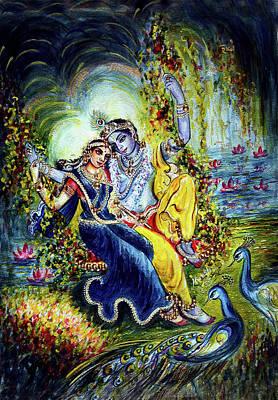 Chakra Painting - Jhulan Leela by Harsh Malik