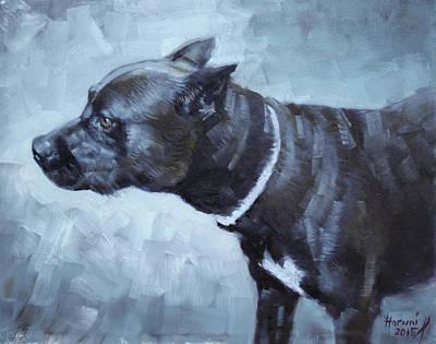 Dog Portrait Painting - Jiaculy by Ylli Haruni