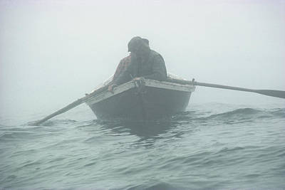 Natural Forces Photograph - Jigging For Cod The Old Way, In A Dory by Bill Curtsinger