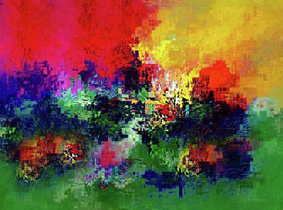 Mosaic Mixed Media - Jigsaw Of Life Abstract by Georgiana Romanovna