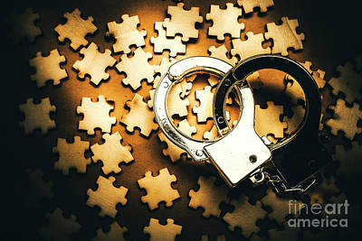 Crime Photograph - Jigsaw Of Misconduct Bribery And Entanglement by Jorgo Photography - Wall Art Gallery
