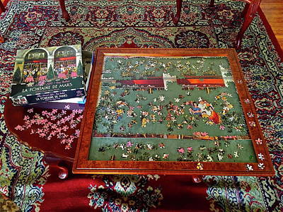 Photograph - Jigsaw Puzzle In Progress by Denise Mazzocco
