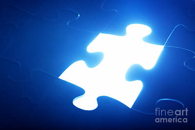 Integration Photograph - Jigsaw Puzzle Piece Missing by Michal Bednarek