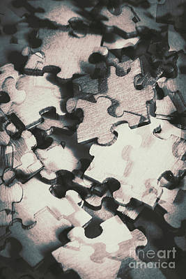Jigsaws Of Double Exposure Art Print