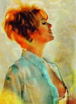 Jill St. John, Vintage Hollywood Actress Art Print
