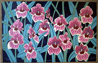Dan Goad Painting - Jill's Orchid by Dan Goad