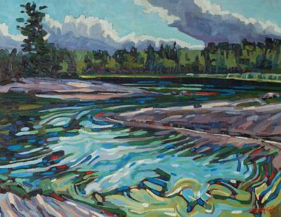 Conservationist Painting - Jim Afternoon Rapids by Phil Chadwick