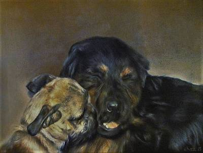 Painting - Jim And Ozzy by Cherise Foster