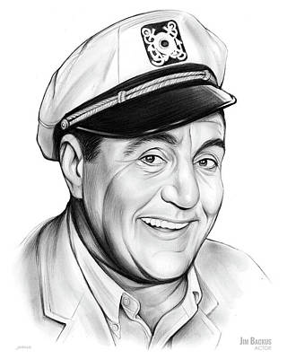 Drawings Rights Managed Images - Jim Backus Royalty-Free Image by Greg Joens