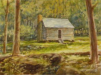 Jim Bales' Cabin Art Print by Carl Whitten