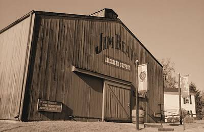 Photograph - Jim Beam Distillery Sepia by Lynnette Johns