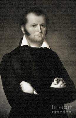 Painting - Jim Bowie - The Alamo by Ian Gledhill