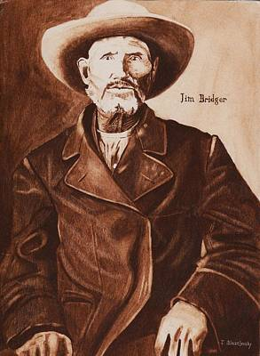 Jim Bridger Art Print by Jeff Blazejovsky