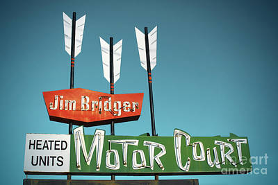 Jim Bridger Motor Court Art Print by Chris  England
