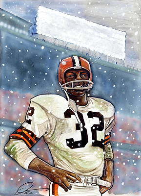 Syracuse University Painting - Jim Brown by Dave Olsen