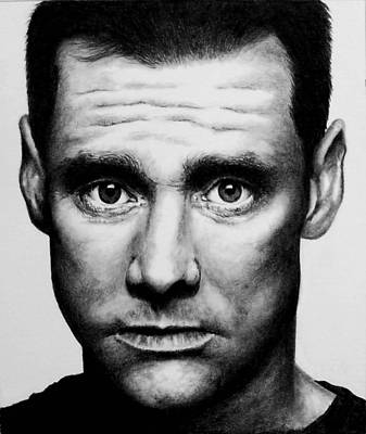 Drawing - Jim Carrey by Rick Fortson