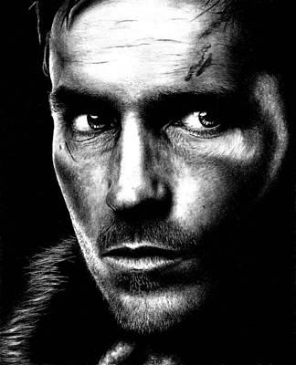 Drawing - Jim Caviezel  by Rick Fortson