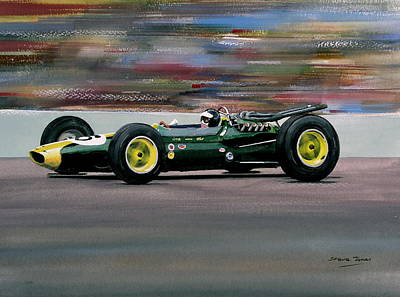 Jim Clark Indy 500 Art Print