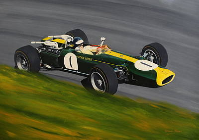 Painting - Jim Clark Lotus 43 Brm by Steve Jones