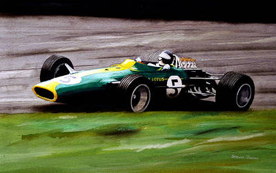 Jim Clark Lotus 49 Art Print