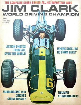Photograph - Jim Clark Magazine 1966 by David Lee Thompson