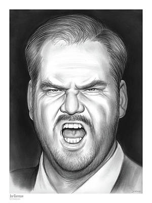 Drawing - Jim Gaffigan by Greg Joens