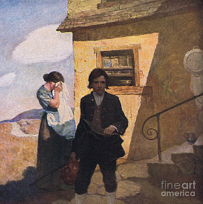 The Torn Hat Painting - Jim Hawkins Leaves Home by Newell Convers Wyeth