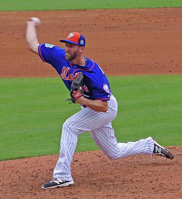Jim Henderson New York Mets Pitcher Art Print by Bruce Roker