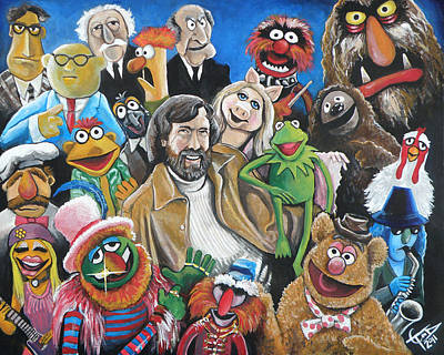 Animals Paintings - Jim Henson and Co. by Tom Carlton