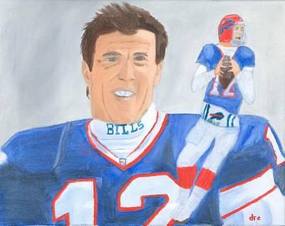 Jim Kelly Buffalo Bills Nfl Portrait Original