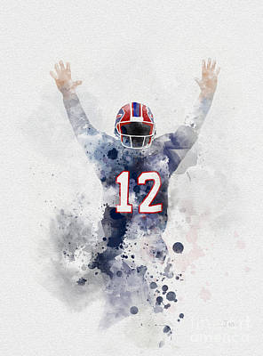 Jim Kelly Art Print by Rebecca Jenkins