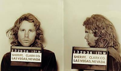 Light My Fire Photograph - Jim Morrison Booking Photo 1968 by Daniel Hagerman