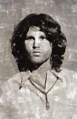 Jim Morrison By Mary Bassett Art Print
