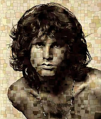 Jim Morrison Cubism Art Print by Dan Sproul