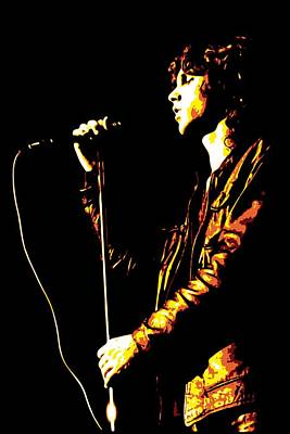 Yellow Digital Art - Jim Morrison by DB Artist